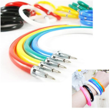 20 pcs/lot Bracelet Ball Pen Novelty flexible ballpoint pen creative Stationery free shipping(China)