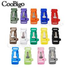 "1pcs Colors 3/4"" Side Release Buckles Survival Whistle Buckle Scraper 550 Paracord Bracelet Outdoor Backpack Bag parts Camp Kits(China)"