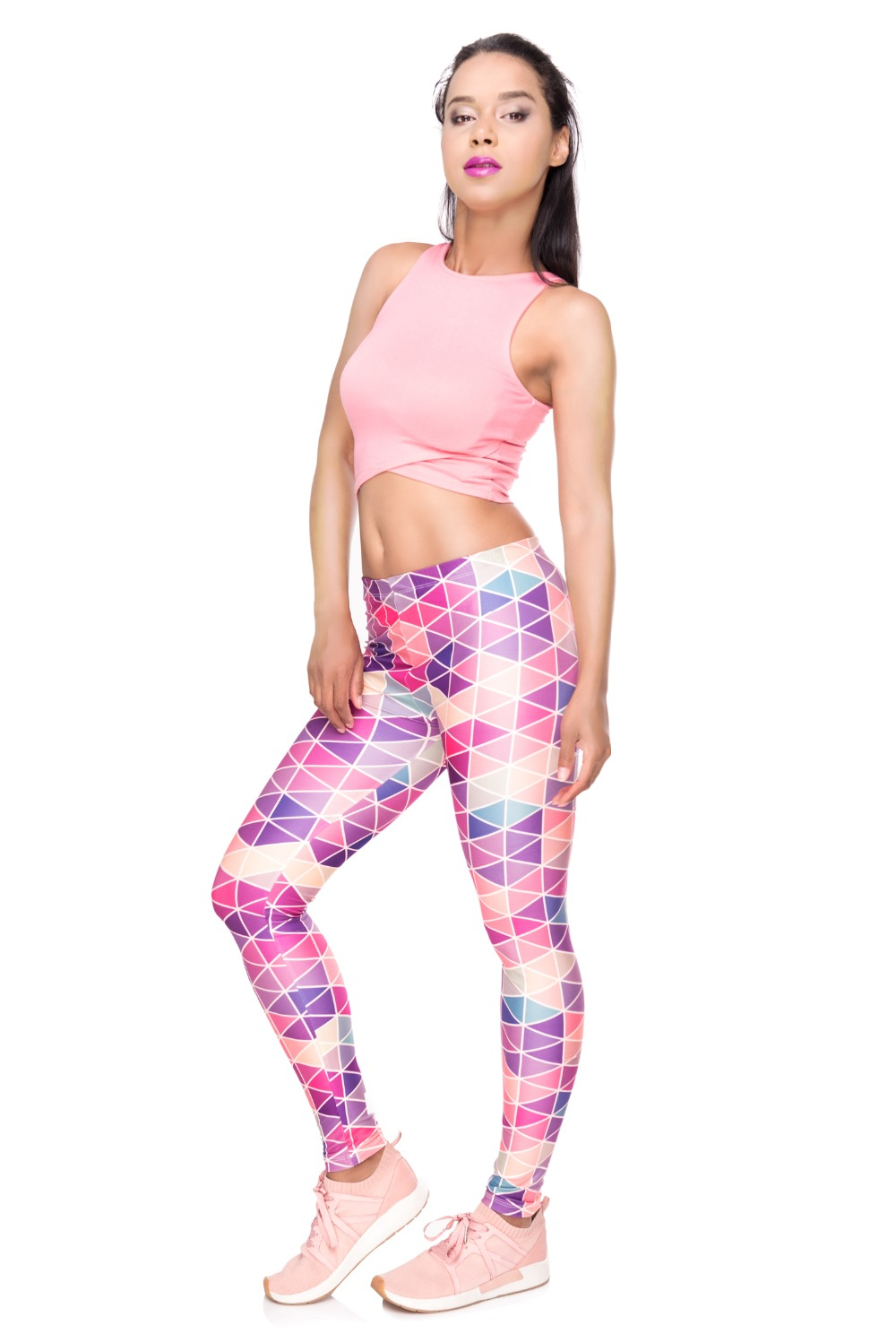 34261 WORK OUT triangle pink (2)
