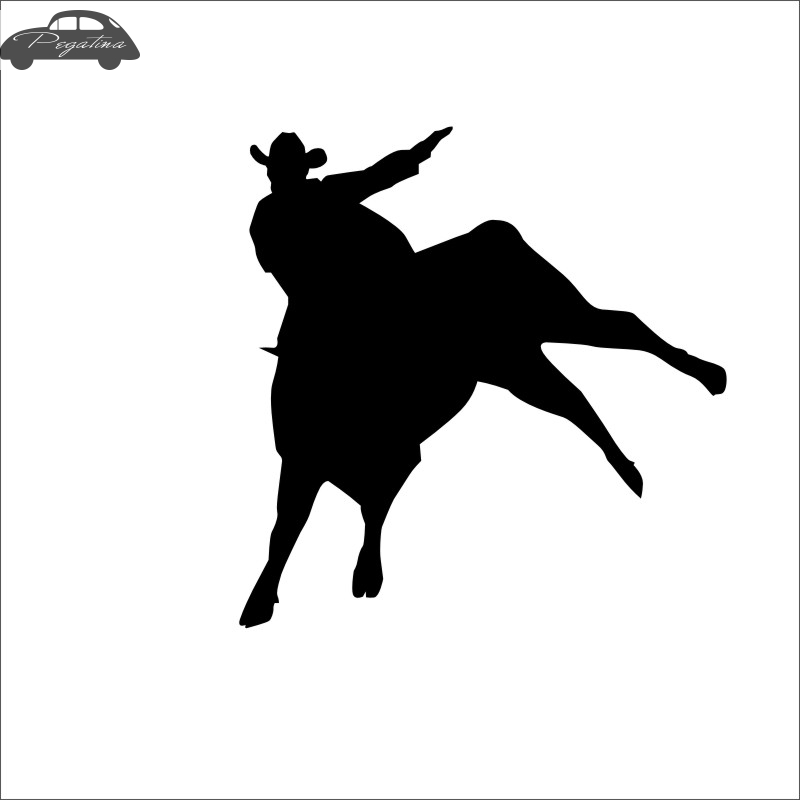 Horse Riding Bull Racing Decal Car Cowboy Sticker Horserace Poster Vinyl Wall Decals Pegatina Decor Mural Sticker