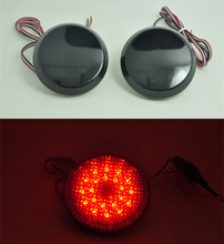 Black Smoke Reflector LED light Guide back Tail Rear Bumper Brake lamp For Toyota corolla 2007