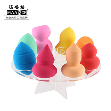 MAANGE 8 Holes Useful Non-latex Makeup Cosmetic Sponge Puff Round Holder Display Storage Stand Container Rack Dryer Airing Tower(China)