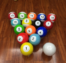 2# 16 Pcs Gaint Snookball Snook Ball Snooker Street Soccer Ball 7 Inch Game Huge Billiards Pool Football Sport Toy Poolball(China)
