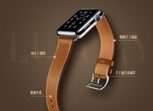 YIFALIAN 100% Genuine Leather Single Tour for Apple Watch Single Tour Bracelet Leather Watchband 38mm and 42mm series 3/2/1(China)