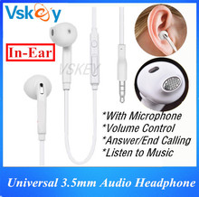 20pcs 3.5mm Earphones Headset With Mic & Volume Control Headphone For Samsung Galaxy S6 S7 Edge A5 Sony HTC LG Huawei Xiaomi