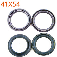 1 Pair 41*54*11 Motorcycle Front Fork Damper Oil Seal+1 Pair 41x54 Motorbike Dust Seal For Honda CB600F Hornet S ABS CBR600 F2