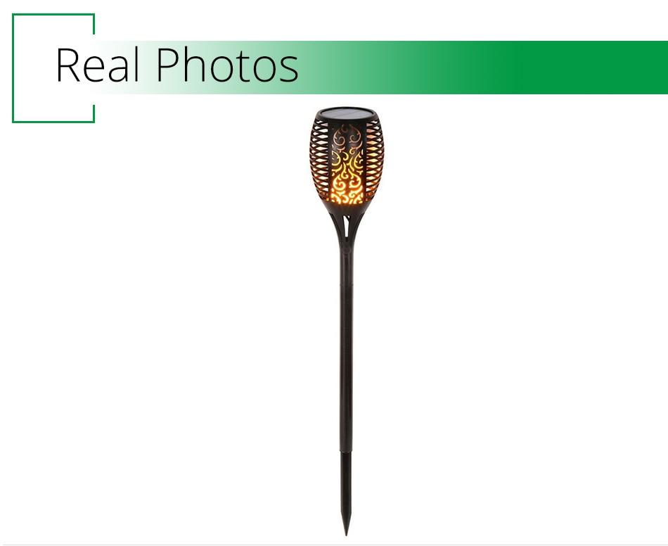 LED Flame Lamp Solar Waterproof Lawn Light Dancing Flickering Torch Lights Garden Outdoor Landscape Decorative Path Lighting (7)