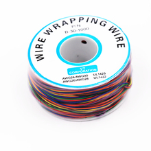 New arrival 8 color Wrapping Wire Wrap Multicolor AWG30 Cable ok wire free shipping(China)
