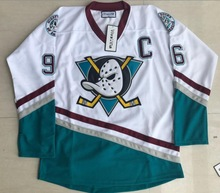 Viva Villa Stitched #96 Charlie Conway Hockey Jersey Mighty Ducks Movie Jersey Conway Green White 100% Stitched Size S-3XL