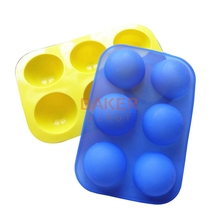 Silicone Cake mold 6 hole half sphere shape handmade soap mold silicone chocolate molds SSCM-001-3