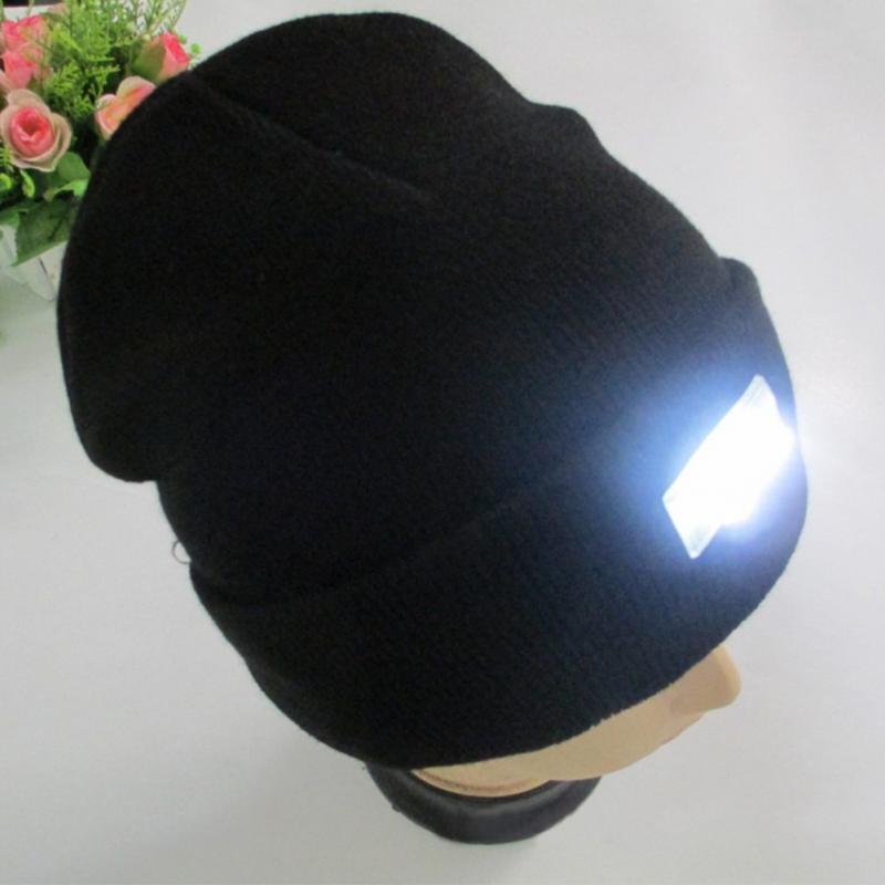 5-LED Light Hat Knitted Cap Winter Warm Beanie Fishing Camping Running BikingÎäåæäà è àêñåññóàðû<br><br><br>Aliexpress