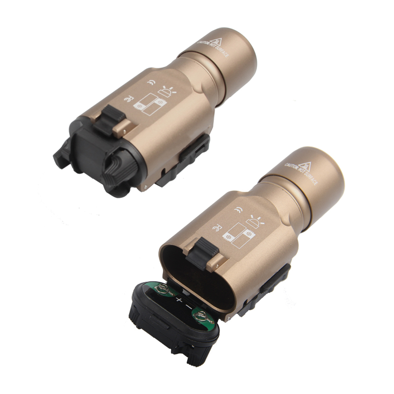 Tactical X300 LED Weapon light Flashlight Torch For Hunting Free Shipping HT8-0002-15