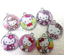 wholesale Free shipping 200pcs Hello Kitty  DIY Metal Charms Jewelry Making pendants