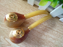 10cm Ox horn tobacco pipes Cheap smoking Pipe Cigarette Holder Gift Promotion M size - Alice's Store NO1 store