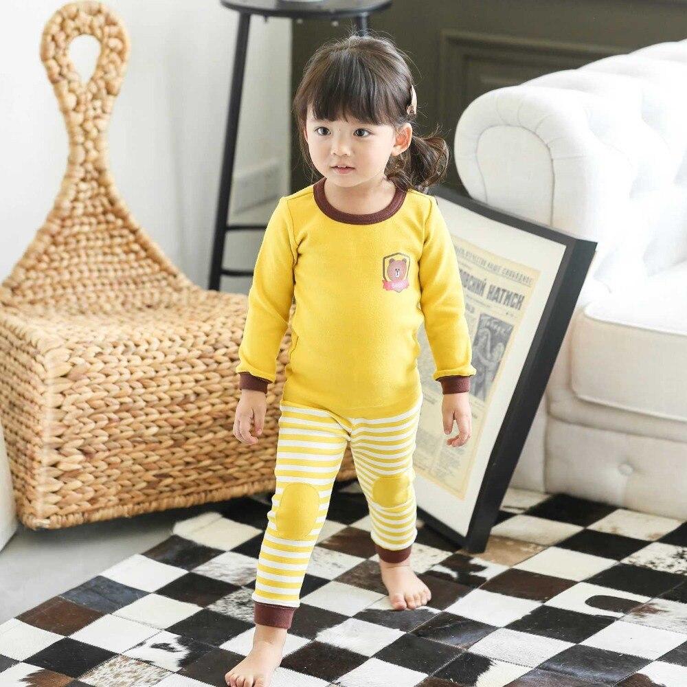 2set/lot Children home wear brand cotton top T-shirt +pant baby girl boy underwear infant indoor clothes sleepwear pajamas sets<br>