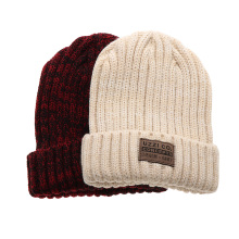 New Spring Women Fashion Soft Knit Hat Ladies Warm Autumn Winter Wool Knit Beanie Hat Crochet Ski Cap 6 Colors(China)