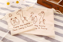 12pcs/lot 14*15cm cotton sack bag Wedding gifts for guest  candy box baby shower souvenirs bag