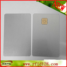 100PCS/Lot  PVC Smart Blank card SLE4428 Chip sliver IC ISO7816 Card By Zebra Plastic Card Printer