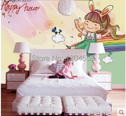 Custom large murals of children room background wallpaper Rainbow Bridge<br><br>Aliexpress