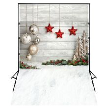 EDT-5X7FT Photo Background Photography Backdrop Props, Christmas Balls Stars(China)
