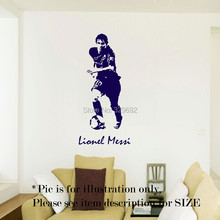 free shipping Lionel Messi Barcelona Football Sport Wall Art Stickers Decal Mural Vinyl Poster tx-178