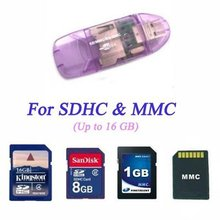 USB 2.0 All in 1 TF Memory SD MMC Memory Card Reader Colorful double hat card reader 3000pcs/lot