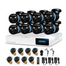 H.View Security Camera System 8ch CCTV System 8 x 1080P CCTV Camera 2.0MP Camera Surveillance System Kit Camaras Seguridad Home