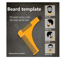 Beard Bro Beard Shaping Tool Sex Man Gentleman Beard Trim Template hair cut hair molding trim template beard modelling tools 1pc