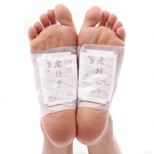100packs=200pcs/lot Ginger Wormwood Detox Foot Pads Patches With Adhesive (200pcs=100pcs Patches+100pcs Adhesives) Free Shipping(China)