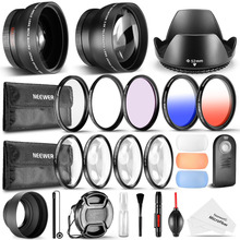 Neewer 52MM Accessory&Cleaning Kit for Nikon D3300 D3200 D5300:Wide Angle&Telephoto Lens+/UV/CPL/FLD Filter+Macro Close-Up Set(China)