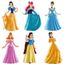 Top Grade PVC Delicate Craft White Snow Princess Action Figure Girls' Toy Gift 275g Full Set
