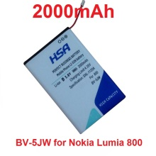 2000mAh BV-5JW BV5JW BV 5JW Mobile Phone Battery for Nokia N9 N9-00 Lumia 800 800C Lumia800 Sun Sea Ray