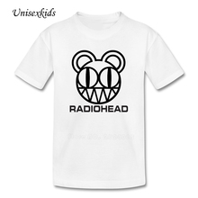 Radiohead Baby T-shirt Boy Girl Summer Printed Rock Band t shirt Purified Cotton Colored Clothing Kids Clothing Discount