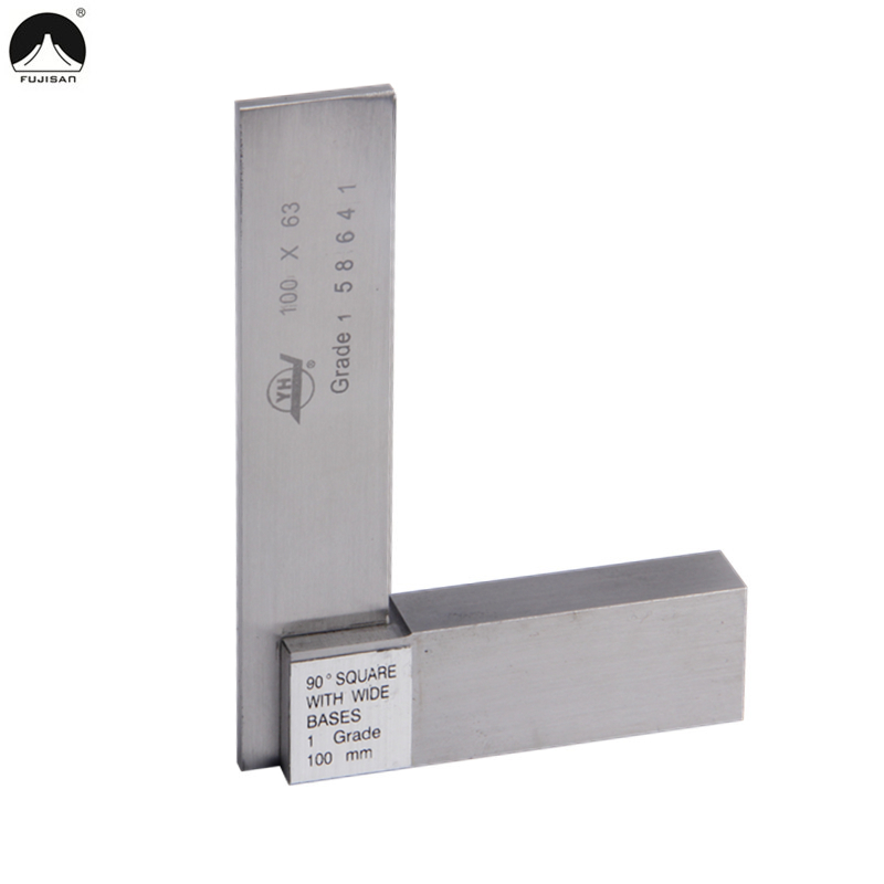 FUJISAN 90 Degree Marking Gauge 100*63mm Angle Ruler Gage Square With Wide Base Stainless steel Grade 1 Measure Tools<br><br>Aliexpress