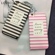 Dual Layer Black & Pink Stripe Heart Camera Window Soft Silk TPU Phone Back Cover Case For iPhone 7 For iPhone 6 6S 7 Plus(China)
