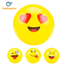 LeadingStar Emoji Balloons Smiley Beach Ball 1Pcs Face Expression Toy Yellow Latex Balloons Cartoon Inflatable Balls zk25
