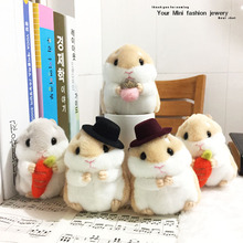 1pcs super cute hamster plush pendant car key chain pendant bag pendant japan plush toy doll birthday girl children