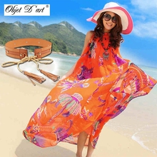 Buy 2017 Summer Women's Bohemian Maxi Dress Hawaii Holiday Style Sun Flower Floral Printed Women Beach Dress Chiffon Sexy Long Dress for $19.45 in AliExpress store