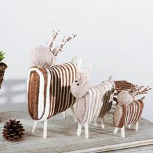 Handle Craft Ornament Decoration MiniSheep Animal Sheep Shape Felt Home Gift Decoration Gifts Handicrafts Accessories A35
