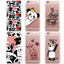 New China cute Q panda For apple iPhone 7 7Plus case silicone Animation For iPhone 6 6s Plus SE 5 5s cases soft cover Coque