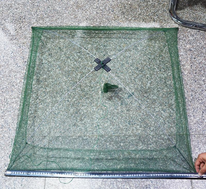 60x60cm 80x80cm 100x100cm Square Fishing Landing Net Trap Network for Catching Shrimp Crab Small Fishes Fishing Tool (4)