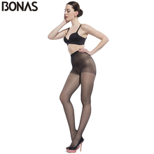 Buy BONAS 15D Summer Cheap Tights Women Solid Color Hosiery Nylon Pantyhose Women's Fashion Elasticity Spandex Resistant Tights