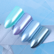 BORN PRETTY 1.5g/Box Diamond Pearl Nail Art Glitter Shining White Powder Mermaid Powder DIY Nail Dust Decorations