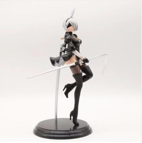 26cm Anime Game NieR Automata YoRHa No. 2 Type B 2B Cartoon Toy Action Figure Collection Model Doll Gift<br>