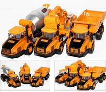 Manufacturers specials Diecast cars, 1:87 alloy construction vehicles, trucks, mixer, excavators, lowest price, free shipping(China)