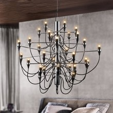 Modern home decoration 18/30/50 bulbs Gino Sarfatti designed Chandelier Living Room Dinning Room light