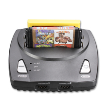 POWKIDDY Top quality NES+SEGA Genesis/MD compact 16 bit and 8 bit 2 in1 dual system game console support original game card(China)