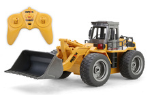 Take box 1520 520 RC Truck 6CH Alloy Bulldozer RC Simulation Pushdozer Engineering Forlift Construction Model With LightToys 520(China)