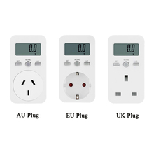 Plug-in Digital wattmeter LCD Energy Monitor Power Meter Electricity Electric swr meter Usage Monitoring Socket EU /US/UK Plug(China)