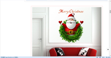 Removable PVC DIY Christmas Snowflake Ball Decal Display Window Wall Sticker